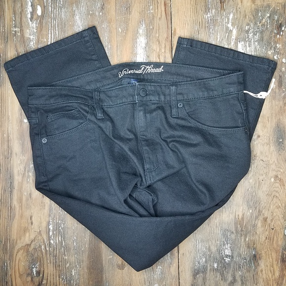 9223b90615a Universal Thread Jeans | Nwot Black Highrise Boot Kick Crop Black ...